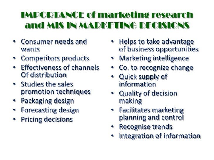 the role and importance of marketing research in the marketing system The role of a marketing department author: john fatteross the marketing department plays a vital role in promoting the business and mission of an organization it.