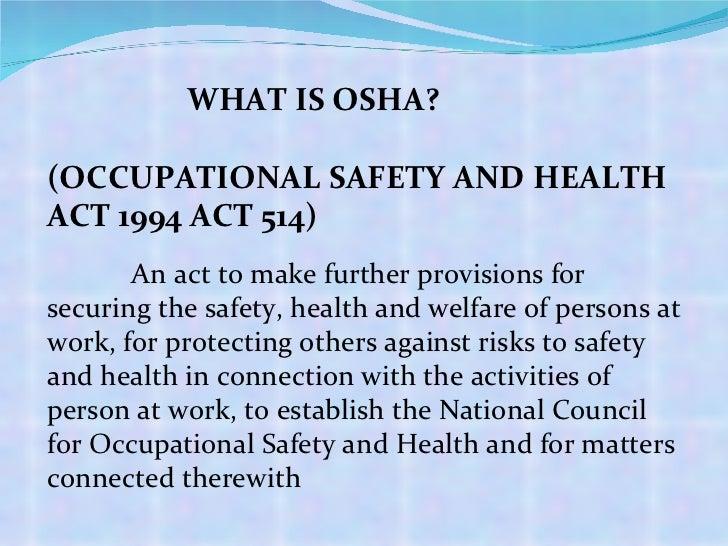Chapter 2 Osha Legislation