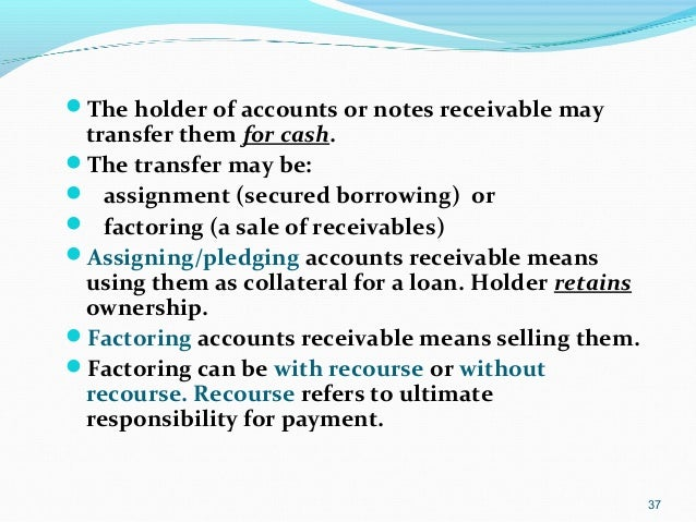 Assigning accounts receivable