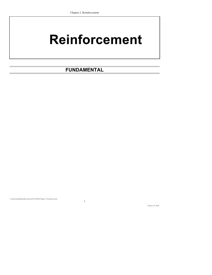 Chapter 2  reinforcement