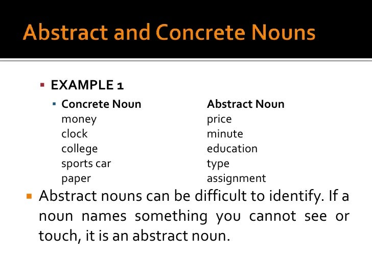 Concrete Nouns Examples Found In Catalog