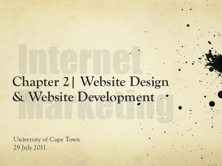 Chapter 2  | Website design & development