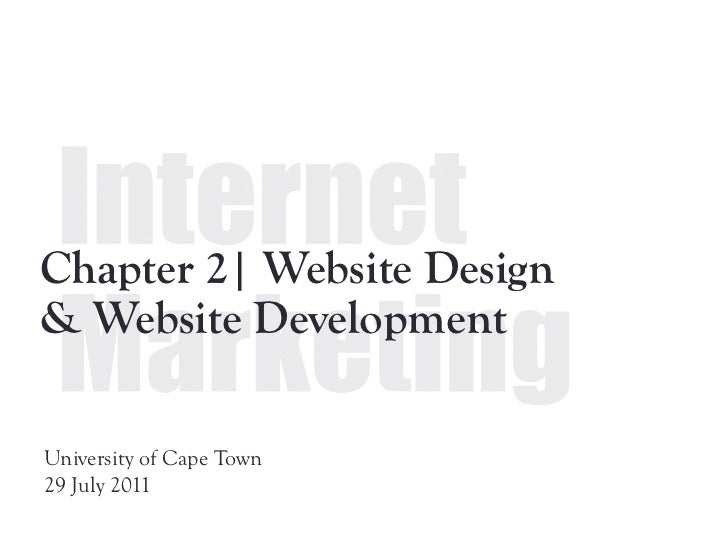 Chapter 2  | Website design & development - pf