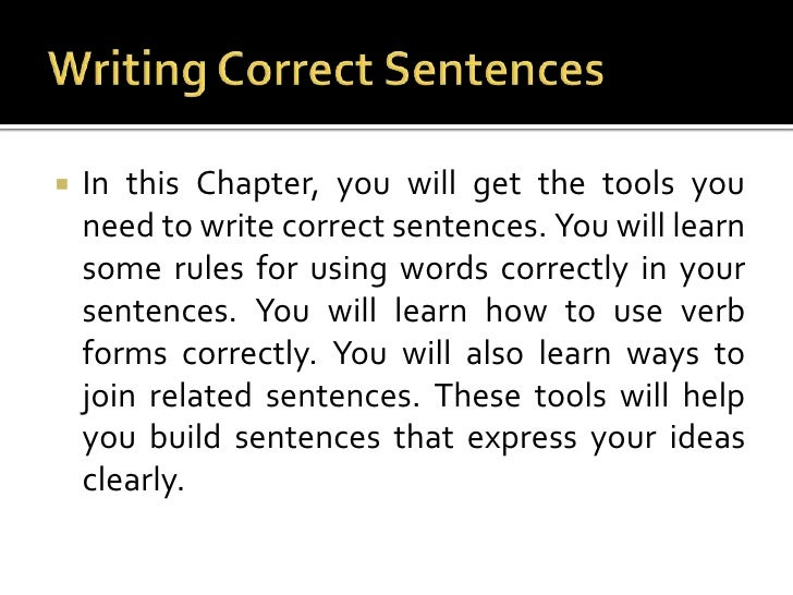 Which is the correct way to write this sentence?