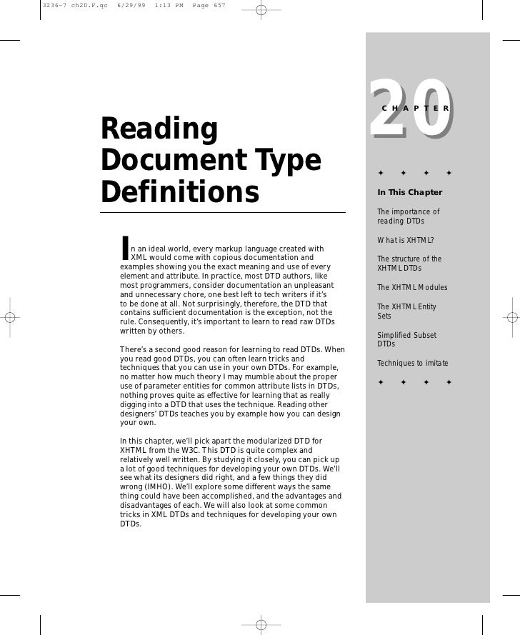 20                                                                      CHAPTER   Reading Document Type                   ...