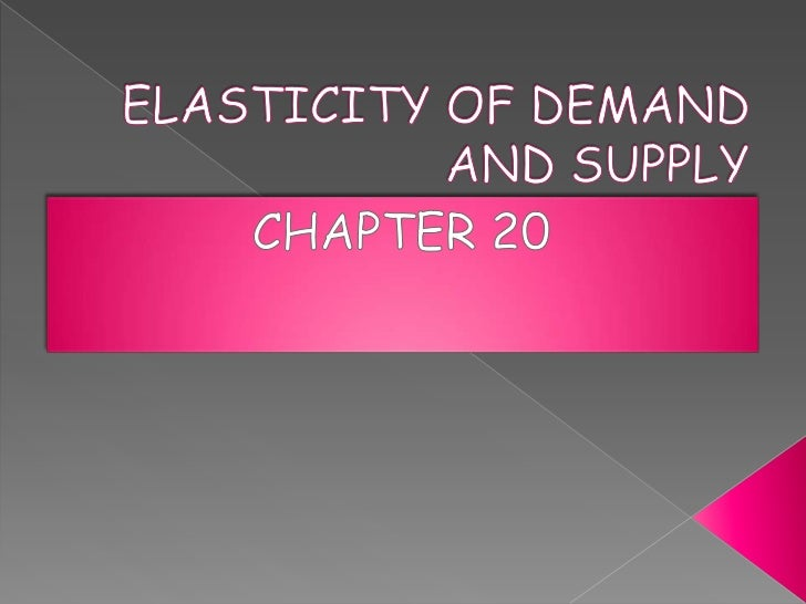 A.   Elasticity of demand measures how much     the quantity demanded changes with a     given change in price of the item...