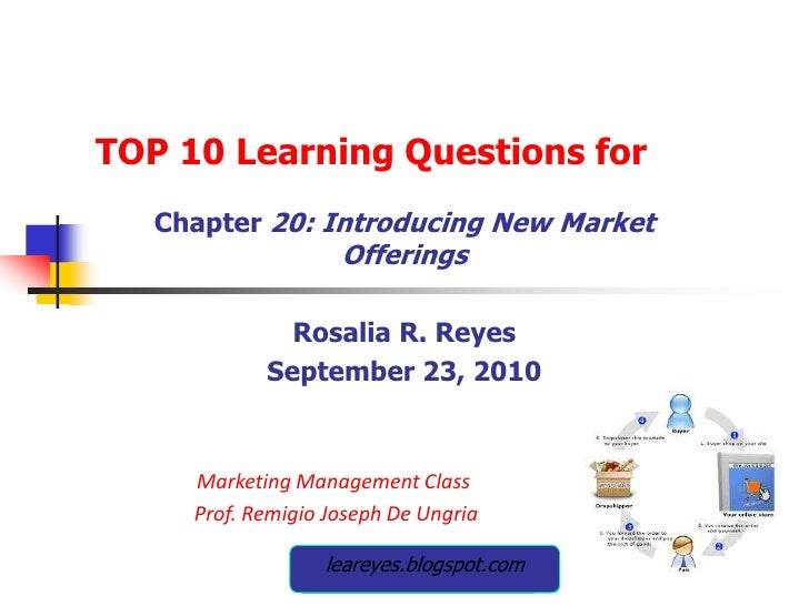 TOP 10 Learning Questions for<br />Chapter 20: Introducing New Market Offerings<br />Rosalia R. Reyes<br />September 23, 2...
