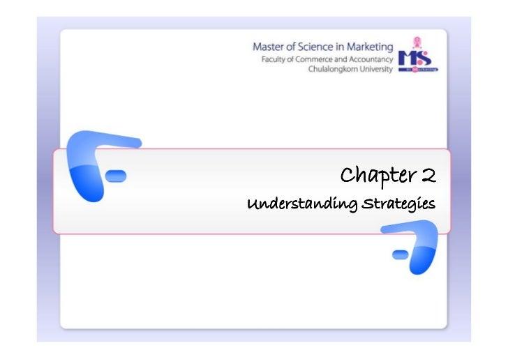Chapter 2Understanding Strategies