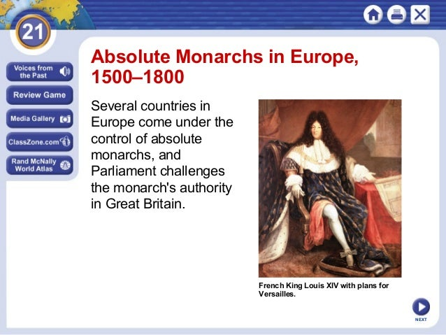 I have to write an essay about Constitutional versus Absolute monarchs. Any ideas?
