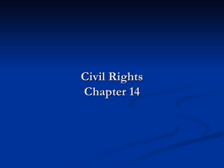 Civil Rights Chapter 14