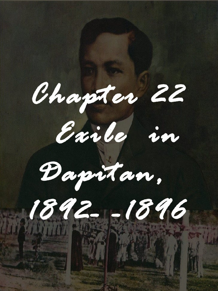 Chapter 22 Exile  in Dapitan,  1892- -1896