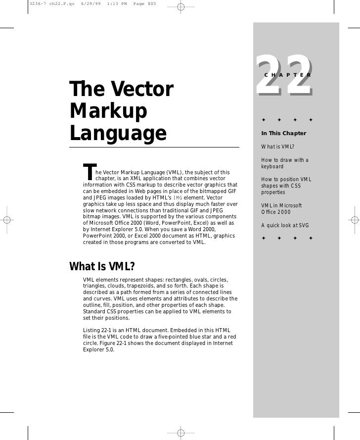 22                                                                      CHAPTER   The Vector Markup                       ...