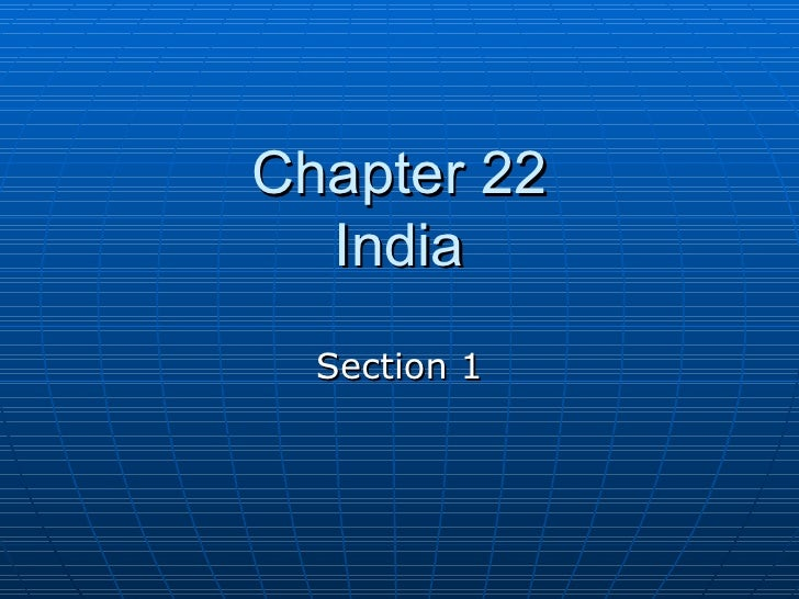 Chapter 22 India Section 1