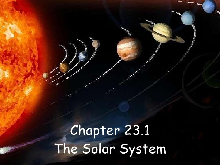 Chapter 23.1 The Solar System