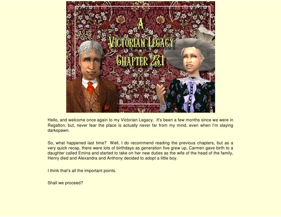 A Victorian Legacy - Chapter 23.1 End of an Era