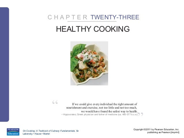 "C H A P T E R TWENTY-THREE                              HEALTHY COOKING                          ""                If we co..."