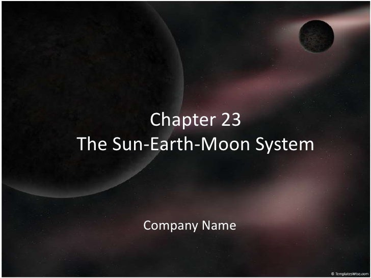 Chapter 23The Sun-Earth-Moon System<br />Company Name<br />
