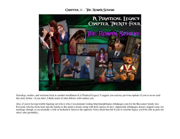 A Piratical Legacy Chapter 24 - The Roman Scheme