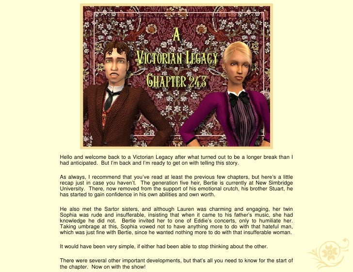 A Victorian Legacy - Chapter 24.3 Truths