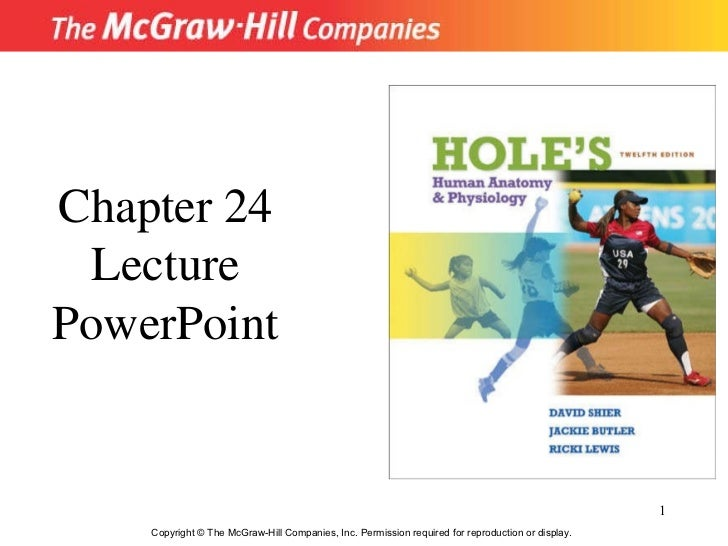 Chapter 24 Lecture PowerPoint Copyright © The McGraw-Hill Companies, Inc. Permission required for reproduction or display.