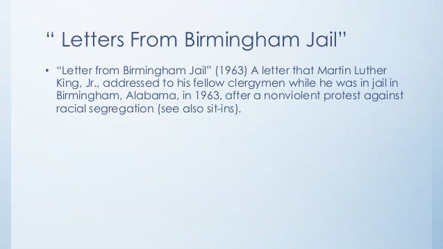 a summary of the letter from birmingham jail Letter from birmingham jail, by mlk (analysis & interpretation)  letter from birmingham jail  an open letter to billy graham - duration:.