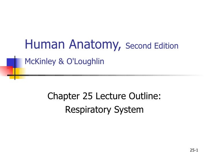 Human Anatomy,  Second Edition McKinley & O'Loughlin   Chapter 25 Lecture Outline: Respiratory System 25-