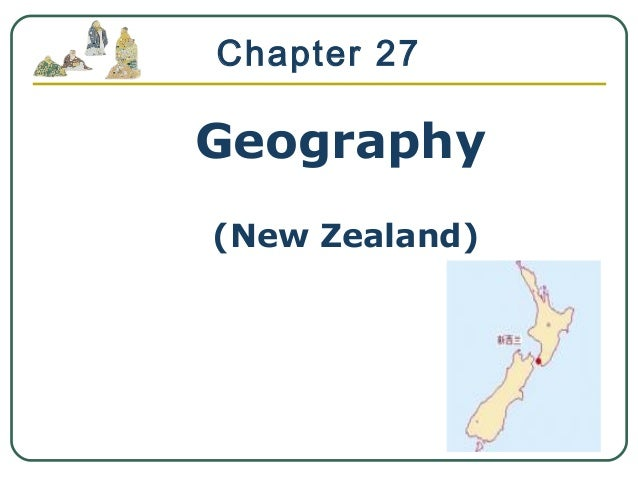 Geography (New Zealand) Chapter 27