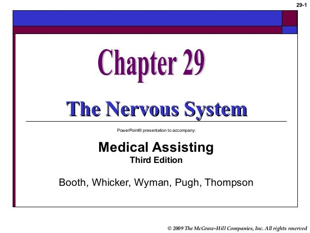 © 2009 The McGraw-Hill Companies, Inc. All rights reserved 29-1 The Nervous SystemThe Nervous System PowerPoint® presentat...