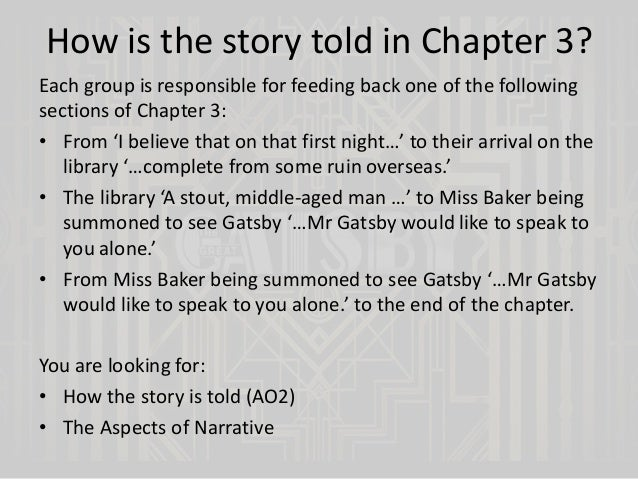 essay gatsby great outline