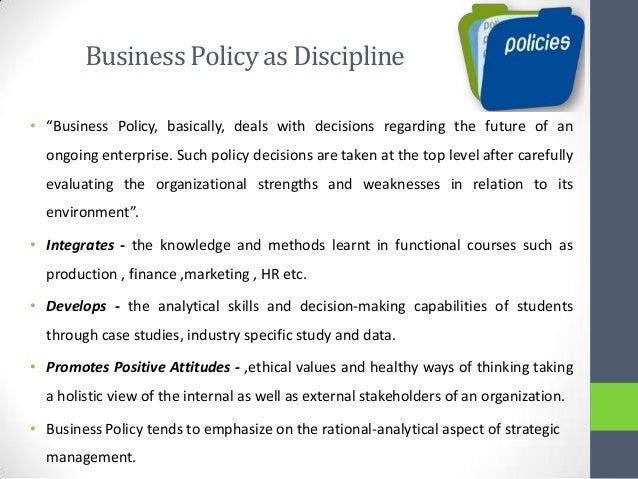 strategic management and business policy module Strategic conflict management for professionals (module 1) strategic conflict management for professionals sdf funding policy.