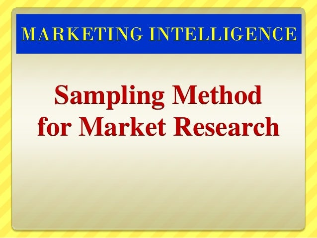 Market research sampling methods