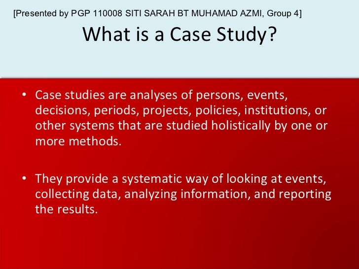 appropriate use of case study method