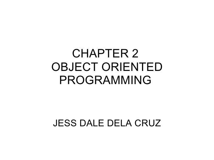 Chapter2 java oop