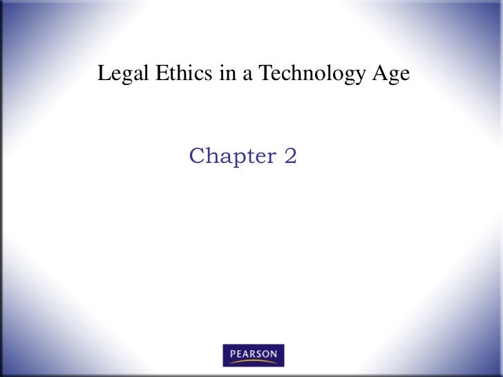 Chapter 2  legal ethics