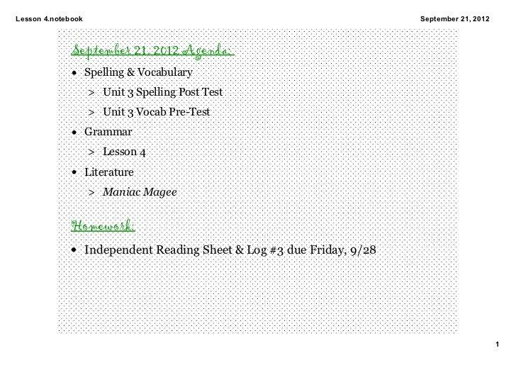 Lesson4.notebook                                                    September21,2012              September 21, 2012 Ag...