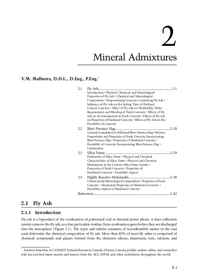 Chapter 2   mineral admixures