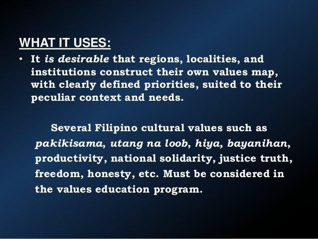 Filipino Values Education Filipino Cultural Values