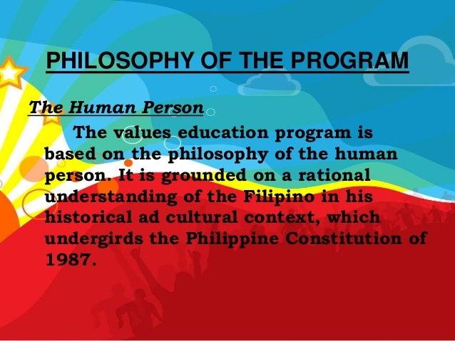 Filipino Values Education Values Education Program