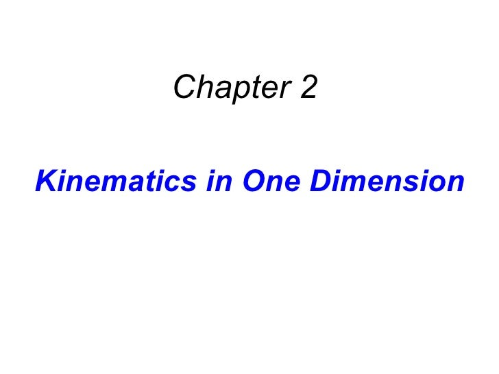 AP Physics - Chapter 2 Powerpoint