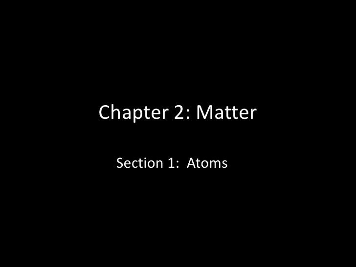 Chapter 2 section 1 notes 2011 (atoms)