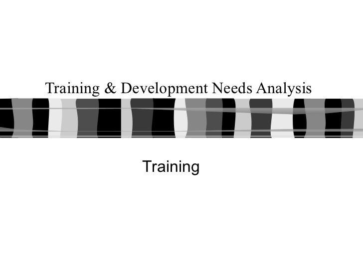Training & Development Needs Analysis Training