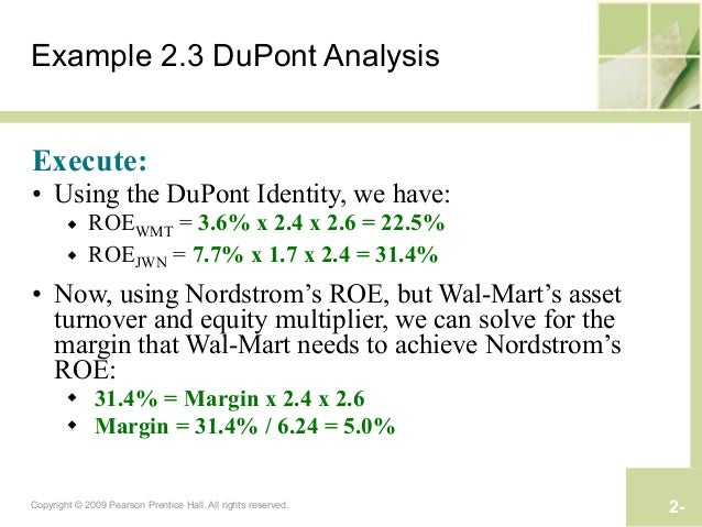 dupont analysis is the combination of the following two ratios – combined analysis simply uses a combination of both time series analysis and cross ratio analysis (cont) • the dupont system of analysis is used to.