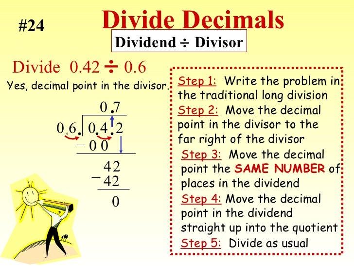 Decimals - Cool math Pre-Algebra Help Lessons - How to Divide a ...