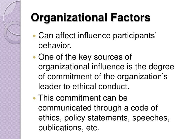 which factors influence the code of ethics Bank, kenya to determine the factors that influences implementation of its csr   ethics influence the extent of corporations perceived social responsibility that is   literature include code of ethics, ethical climate or culture, business type,.