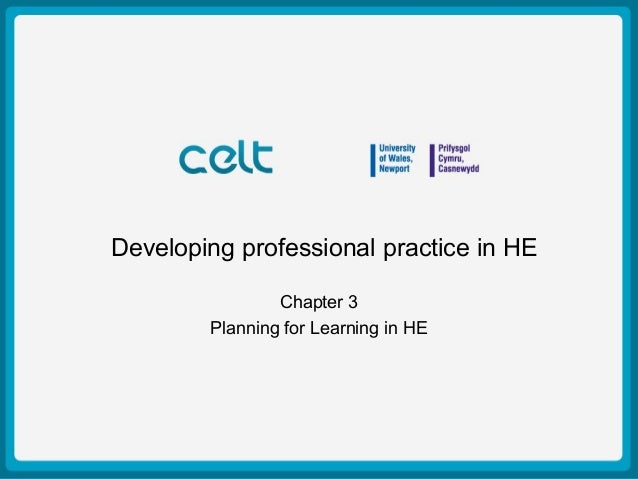 Presentation Title Example Author: Simon Haslett 15th October 2009 Developing professional practice in HE Chapter 3 Planni...