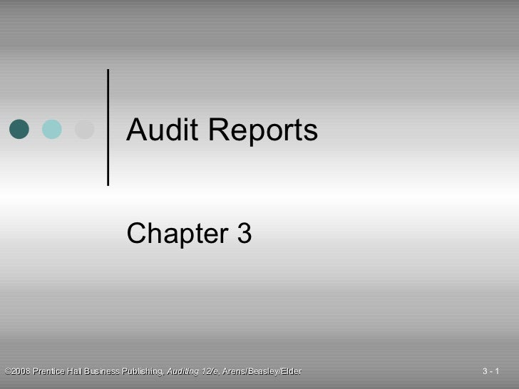 Audit Reports Chapter 3