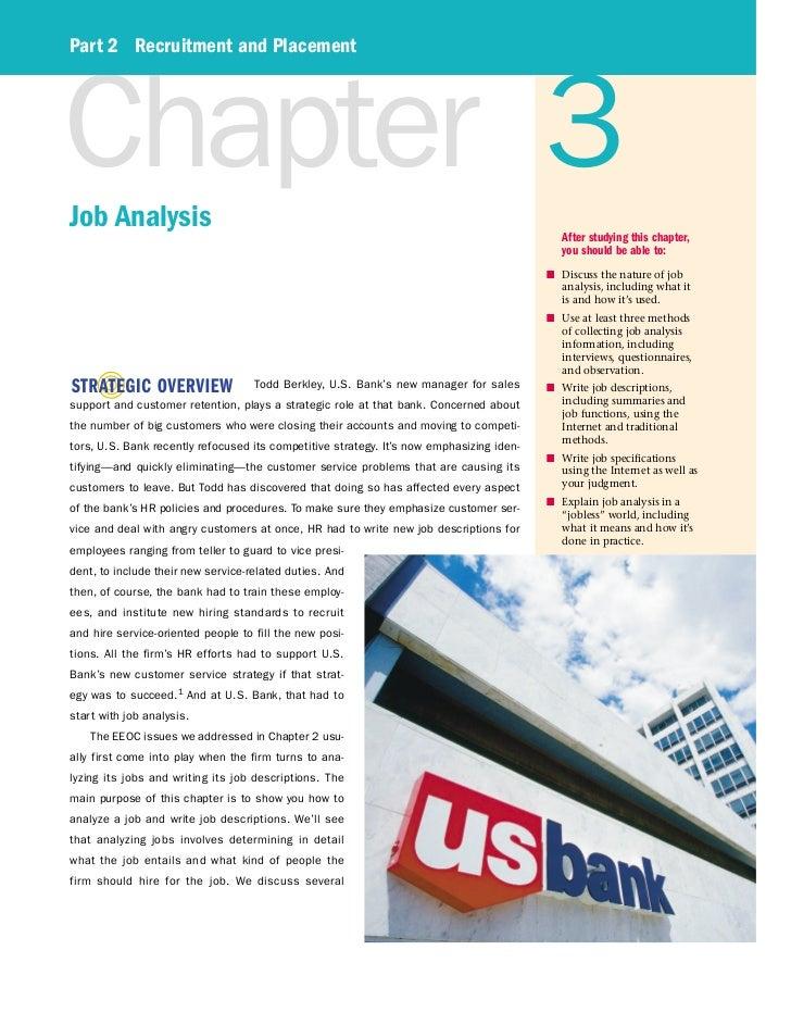 Part 2 Recruitment and PlacementChapter 3Job Analysis                                                                     ...