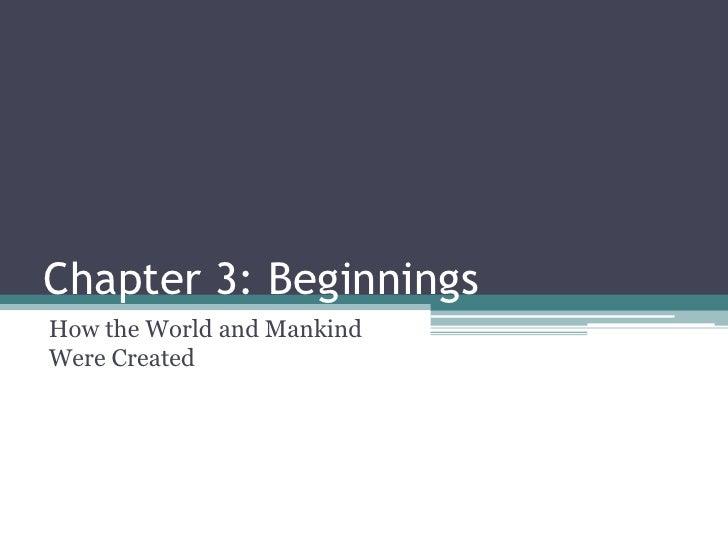 Chapter 3 - Mythology