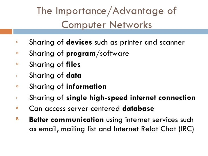 the importance of computers and the internet From the invention of the wheel to the internet,  computer technology essay sample by lauren bradshaw  computers offer the internet which helps students.