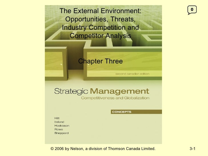 The External Environment:                             0      Opportunities, Threats,     Industry Competition and        C...